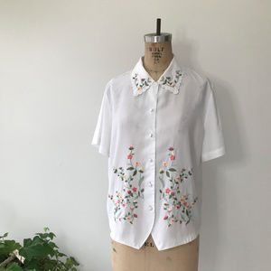 Vintage Embroidered Button Down